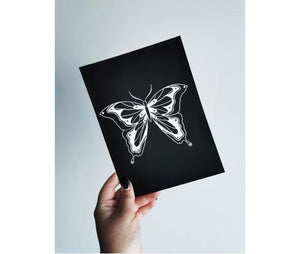 Gothic Butterfly A5 Art Print