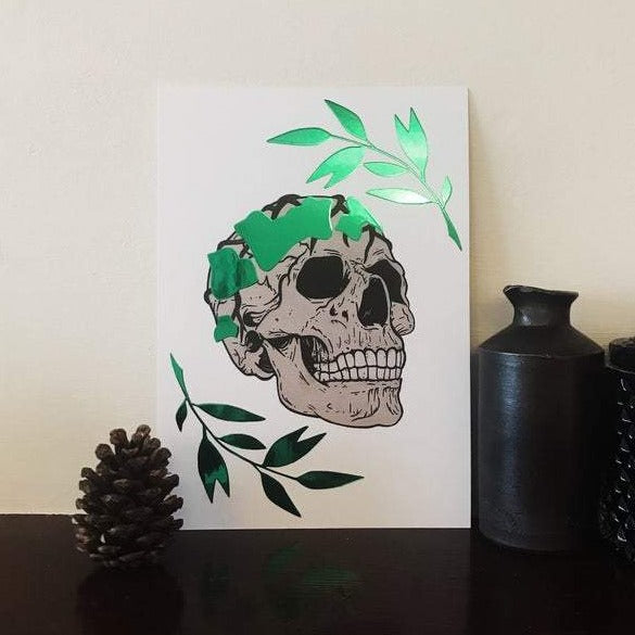The Green Man foiled A5 Art Prints