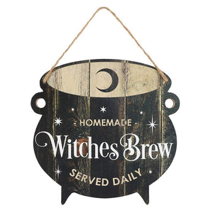 Witches Brew Cauldron MDF Hanging Sign