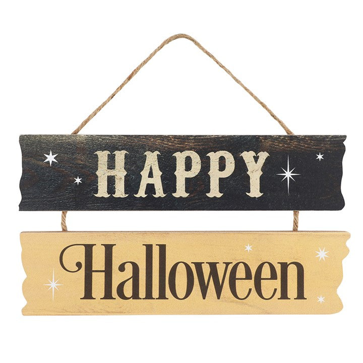 Happy Halloween Hanging MDF Sign