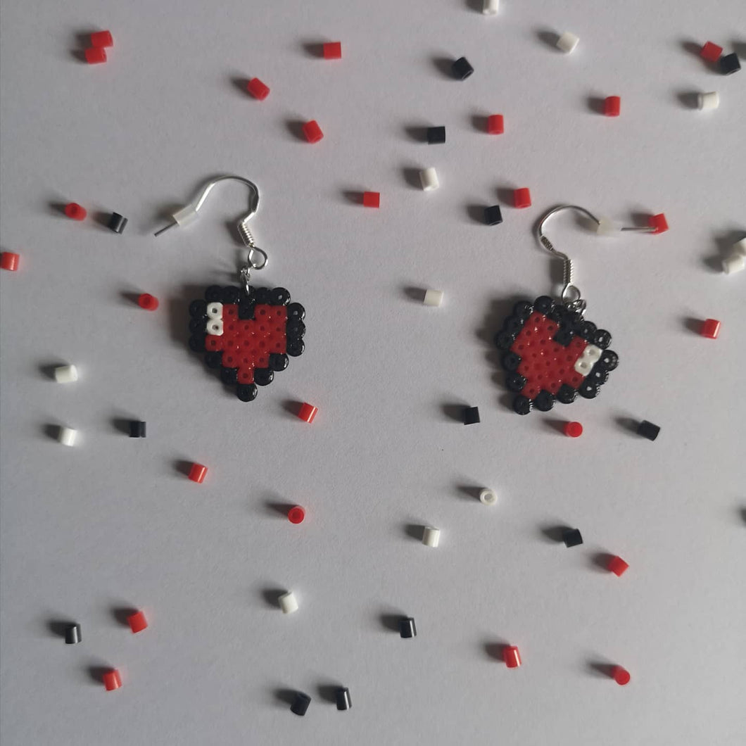 Love Heart Earrings - Happy Emo