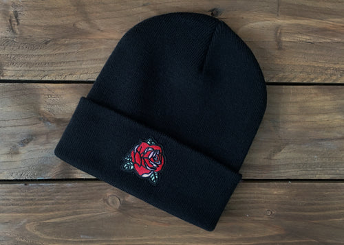 Rose Beanie Hat - Happy Emo
