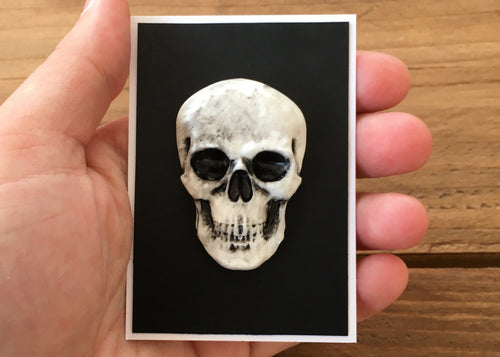 Clay Skull Badge - Happy Emo
