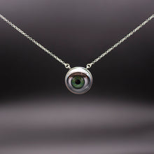 Load image into Gallery viewer, Green Eye Necklace