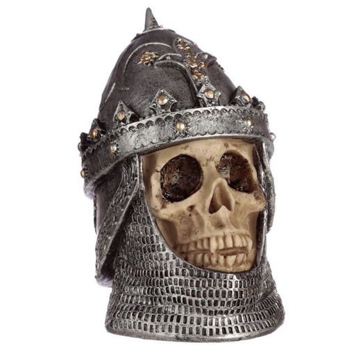 Skull Wearing Saladin Helmet - Happy Emo