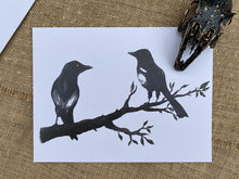 Load image into Gallery viewer, Magpies Large Print - Happy Emo