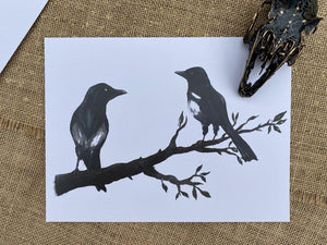 Magpies Large Print - Happy Emo
