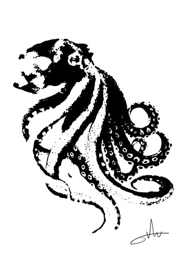 Octopus - Print - Happy Emo