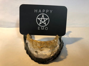 Jawbone Business Card Holder - Happy Emo