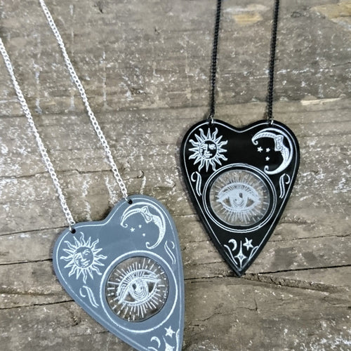 Planchette Necklace - Happy Emo