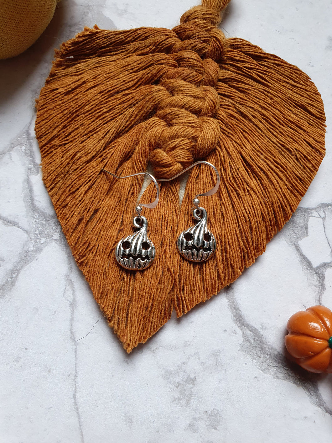 Vintage style Pumpkin Charm Earrings