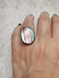 Large Galaxy/Space/Shell Style Ring - Adjustable