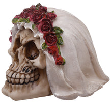 Load image into Gallery viewer, Gothic Wedding Day Skull Bride Ornament - Happy Emo
