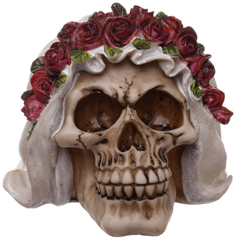 Gothic Wedding Day Skull Bride Ornament - Happy Emo