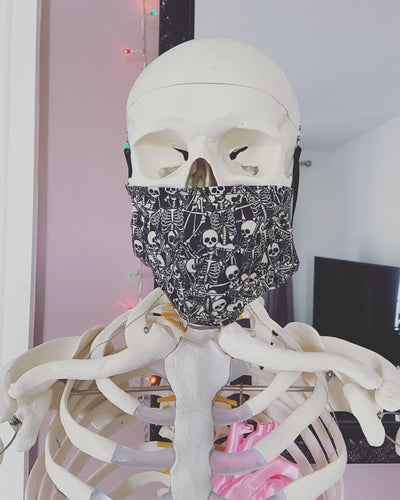 Skeleton Face Mask - Happy Emo