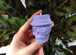 Top Hat Skull Candle - Happy Emo