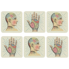 Load image into Gallery viewer, Phrenology Coasters - Happy Emo