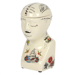 Phrenology Head Storage Jar - Happy Emo