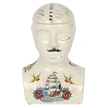Load image into Gallery viewer, 30cm Phrenology Head Storage Jar - Happy Emo