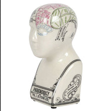 Load image into Gallery viewer, Small Crackle Phrenology Head Ornament - Happy Emo
