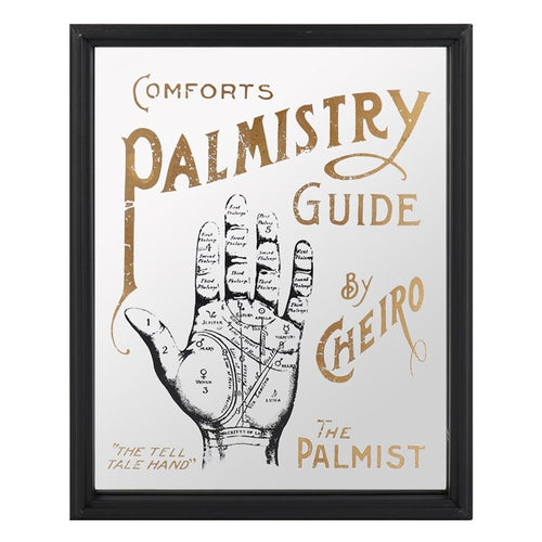 Mirrored Palmistry Wall Hanging - Happy Emo