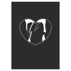 Ziggy Heart Print - Happy Emo