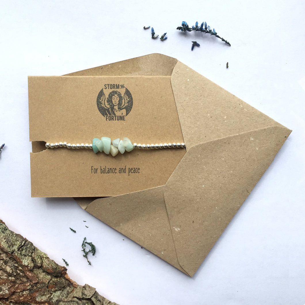 Freyja - Amazonite Bracelet - For Balance And Peace - Happy Emo