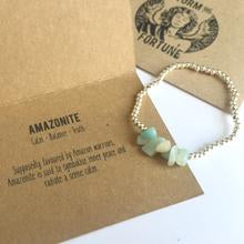 Load image into Gallery viewer, Freyja - Amazonite Bracelet - For Balance And Peace - Happy Emo