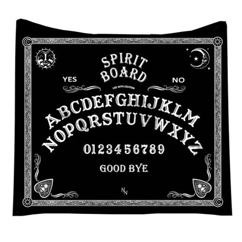 Ouija Spirit Board Blanket - Happy Emo