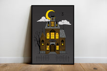 Load image into Gallery viewer, Haunted House Art Print (A4) - Happy Emo