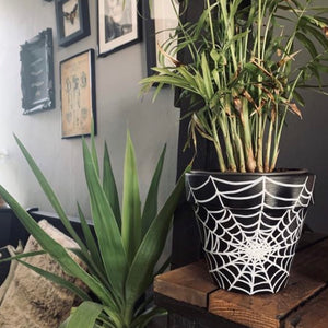 Cobweb Plant Pot - Happy Emo