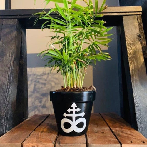 Leviathan Cross Plant Pot - Happy Emo