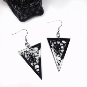 Cobweb Triangle Choker Necklace or Earrings