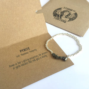 Freyja - Pyrite Bracelet - For Good Luck And Success - Happy Emo