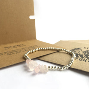 Freyja - Rose Quartz Bracelet - You Are Loved - Happy Emo