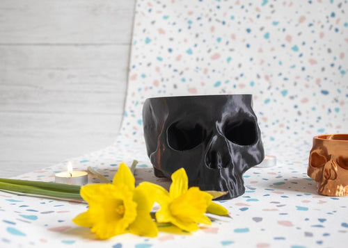 Skull Planter XXL - Happy Emo