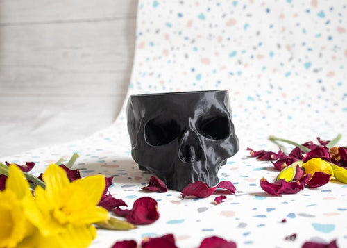 Skull Planter XL - Happy Emo