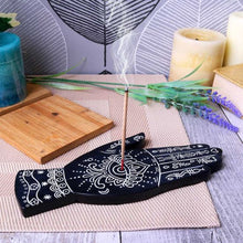 Load image into Gallery viewer, Hamsa Hand Incense Burner - Happy Emo