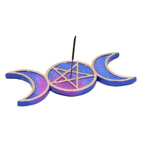 Triple Moon Incense Burner - Happy Emo