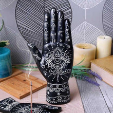 Load image into Gallery viewer, Hamsa Hand of God Palmistry Style Ornament - Happy Emo
