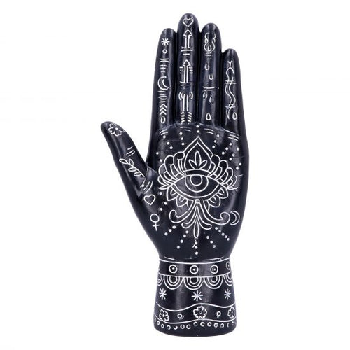 Hamsa Hand of God Palmistry Style Ornament - Happy Emo