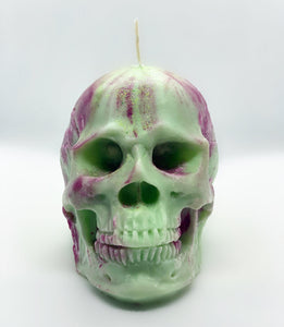 Large 3D Skull Candle - Happy Emo