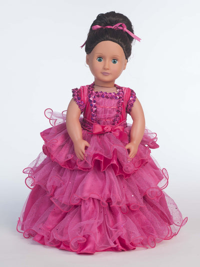 Fairytale Princess Doll Costume - Fuchsia
