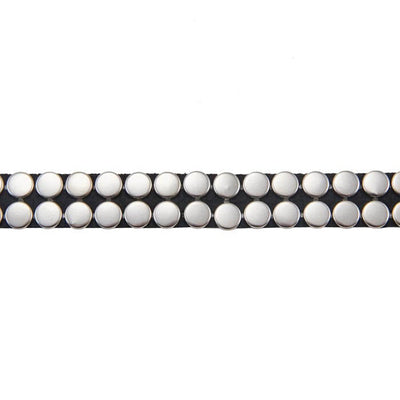 Silver Two-Row Fantasy Studded Trim