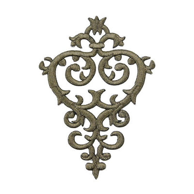 Grey Baroque Heart Motif