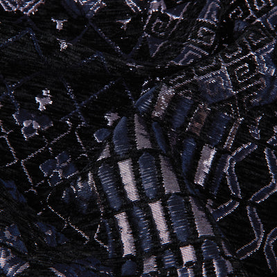 Metallic Tribal Brocade Velvet