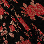 Yaya Han Collection Floral Brocade Velvet Red