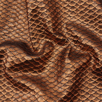 Metallic Textured Scales Copper