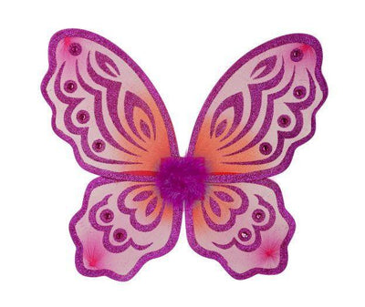 Butterfly Wings Fuchsia and Orange