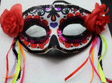 Rosed Accent Masquerade Mask